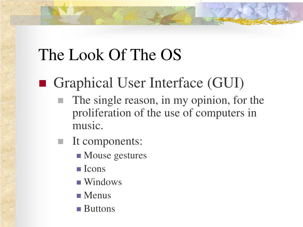The Look Of The OS