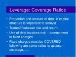 leverage coverage ratios
