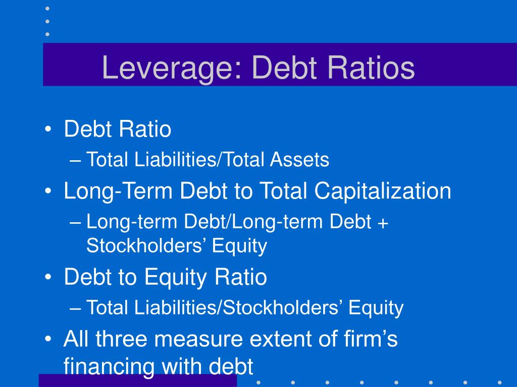 Leverage: Debt Ratios