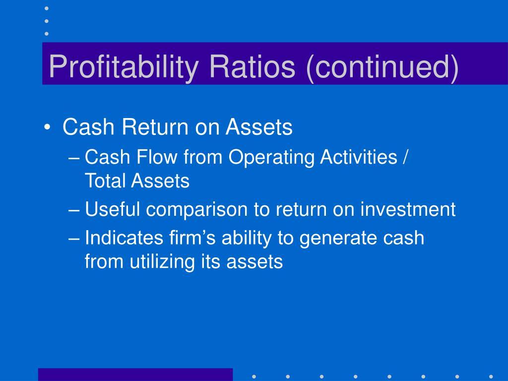 Profitability Ratios (continued)