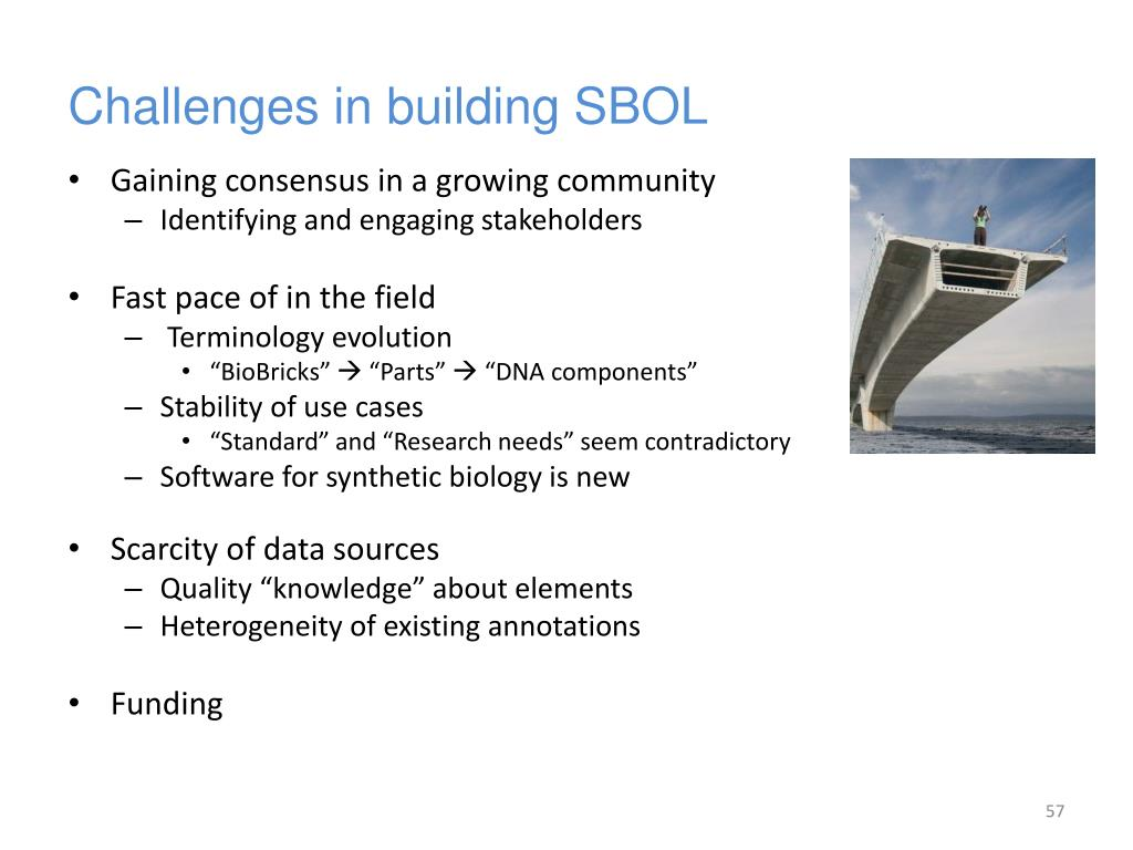 Challenges in building SBOL