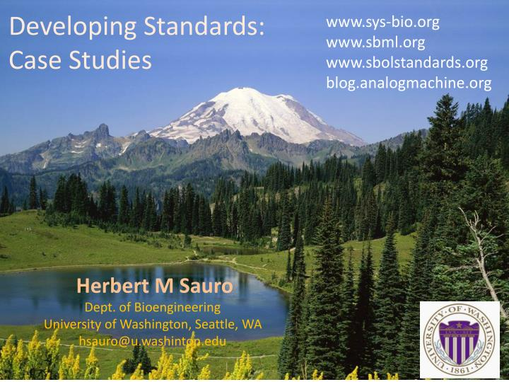 Developing standards case studies