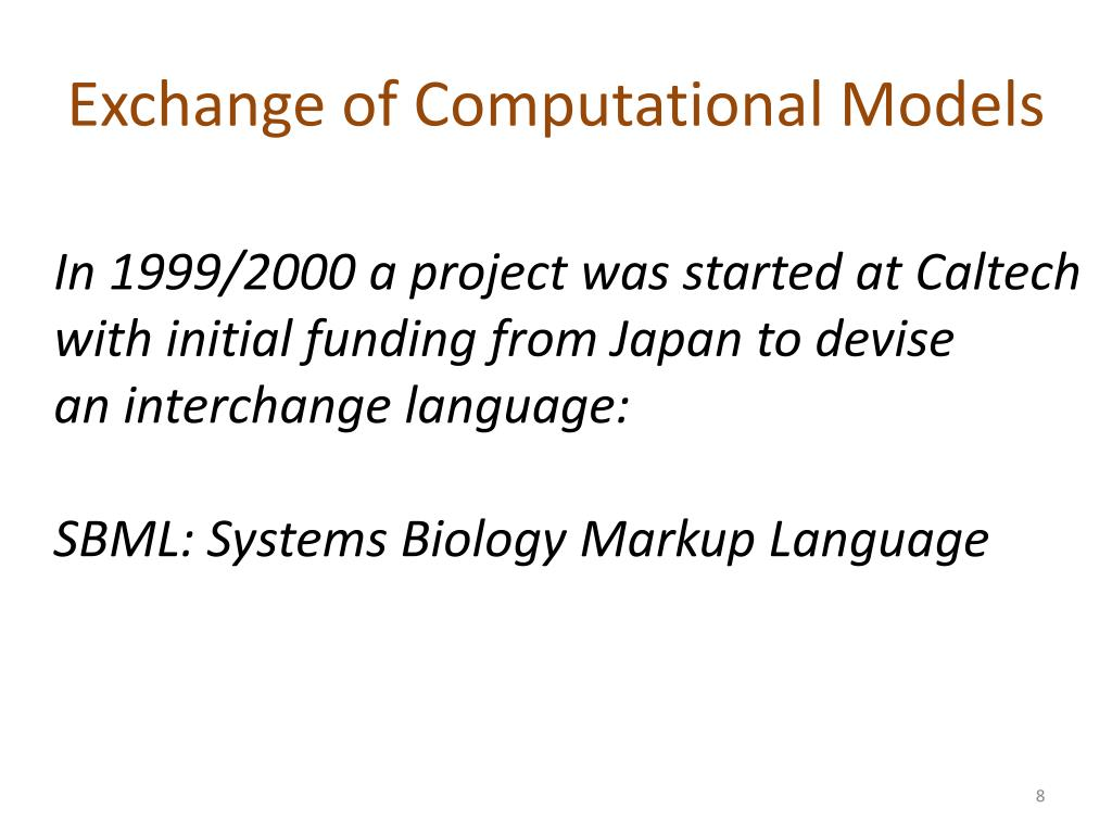 Exchange of Computational Models
