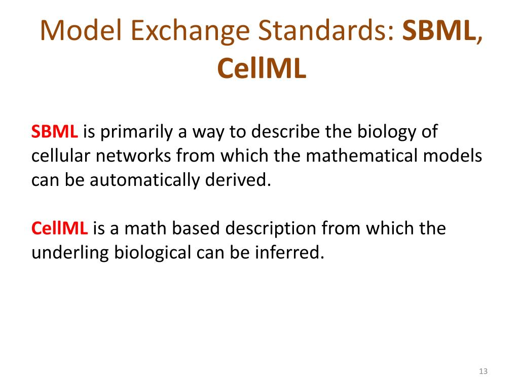 Model Exchange Standards: