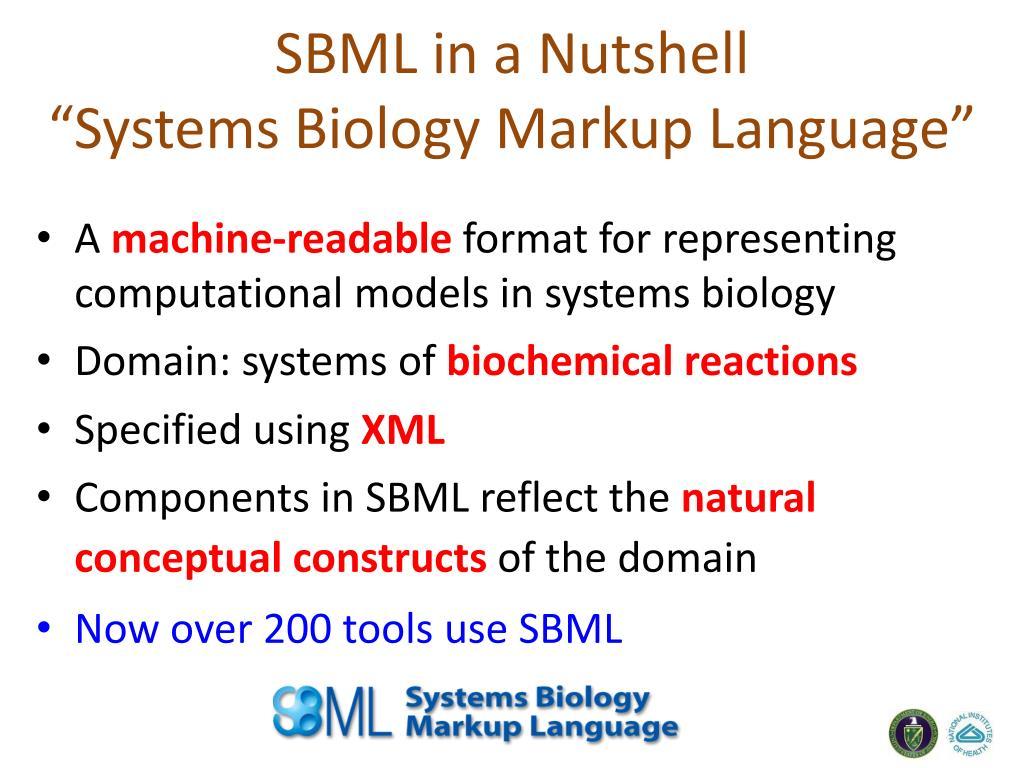 SBML in a Nutshell