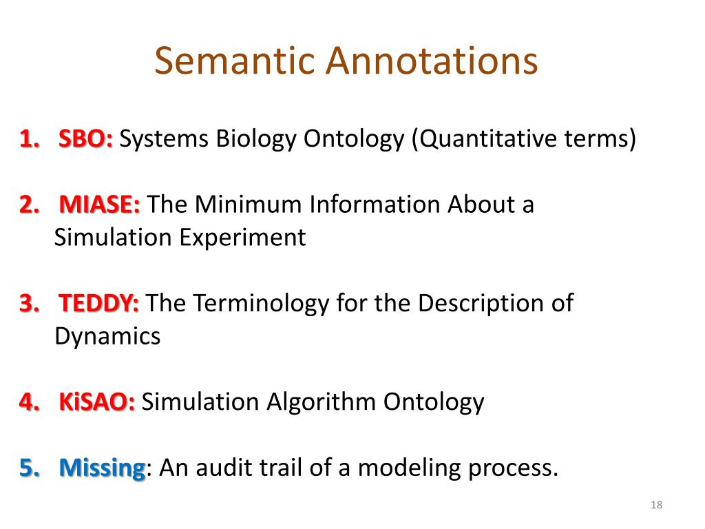 Semantic Annotations