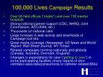 100 000 lives campaign results7