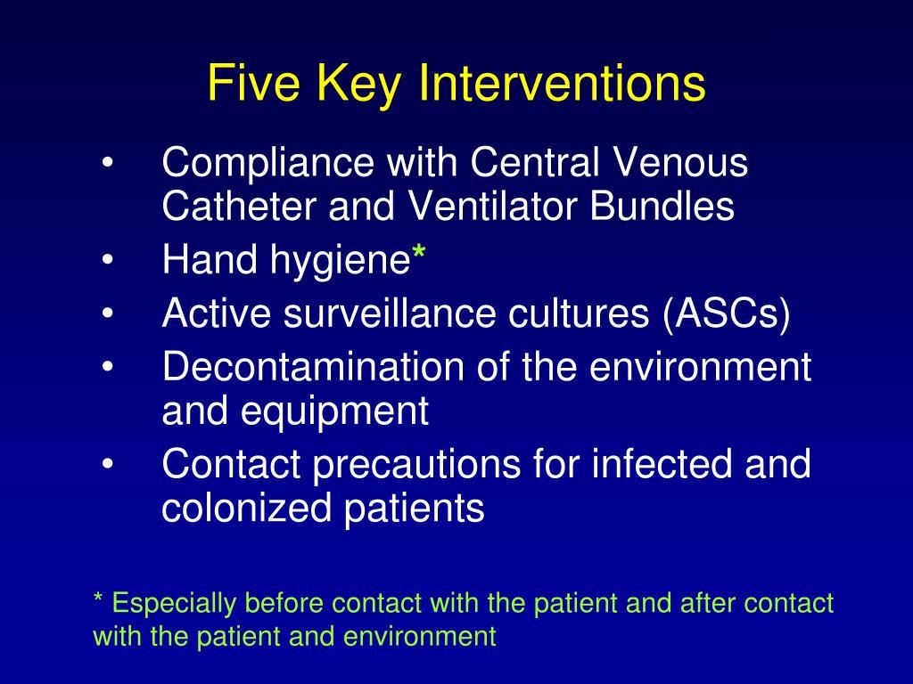 Five Key Interventions