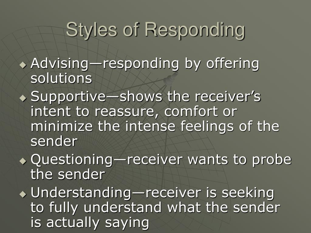 Styles of Responding