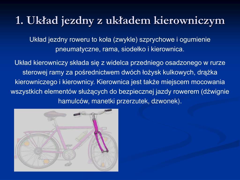 1. Układ jezdny z układem kierowniczym