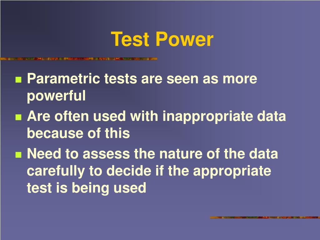 Test Power