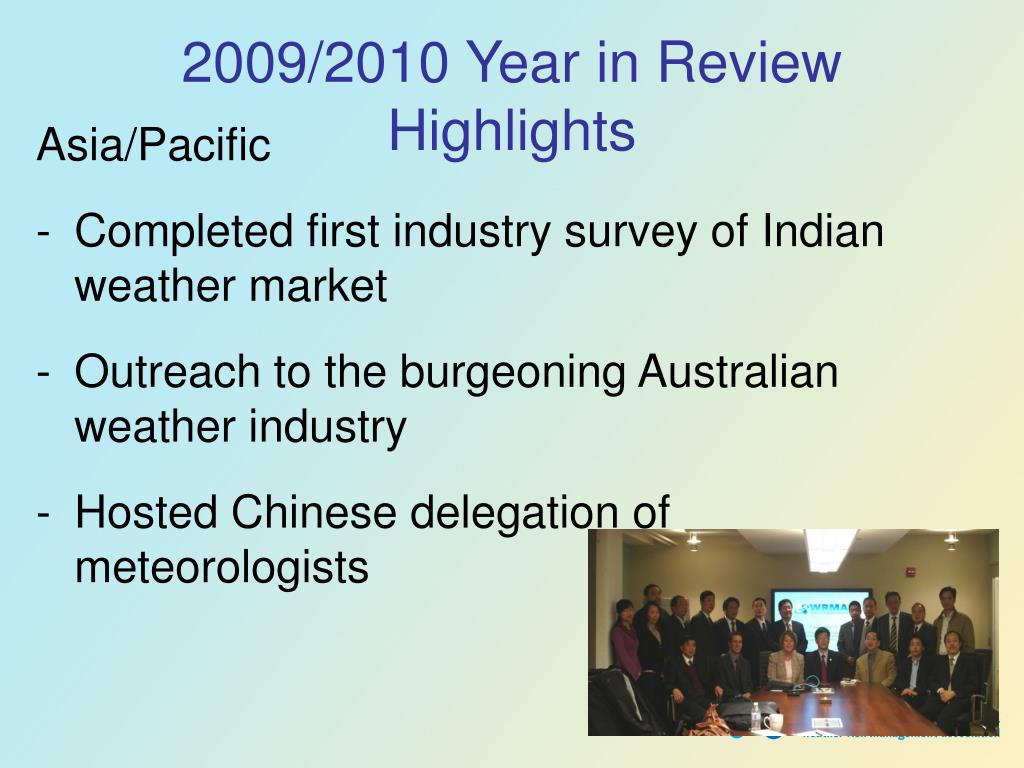 2009/2010 Year in Review Highlights