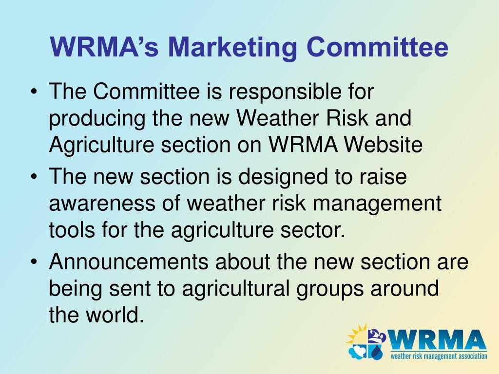 WRMA's Marketing Committee