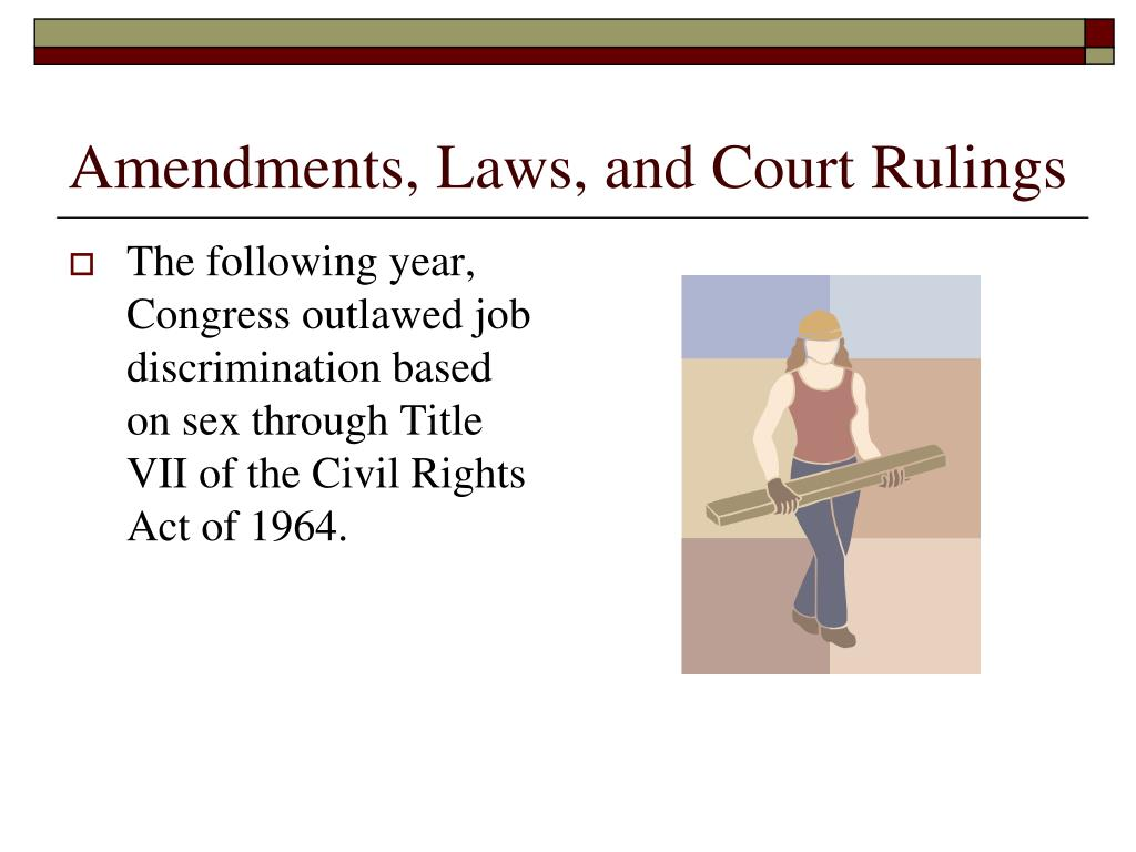 Amendments, Laws, and Court Rulings