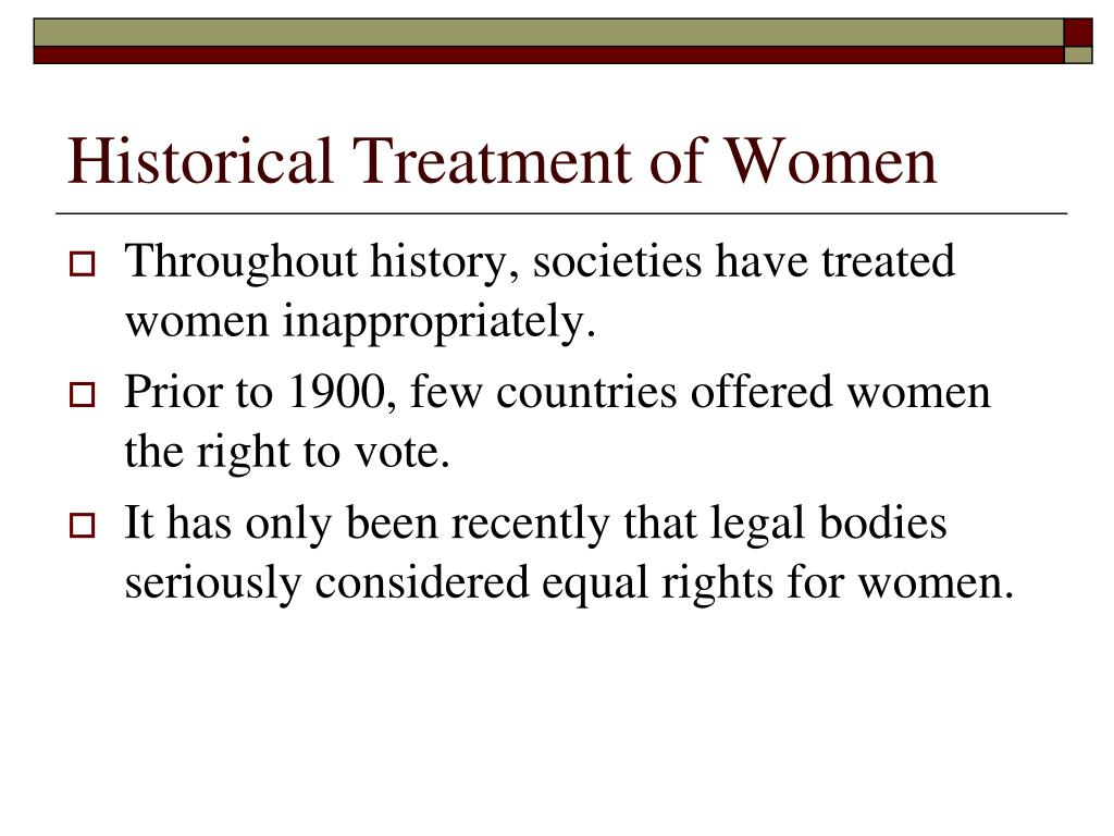 Historical Treatment of Women