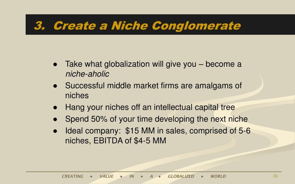 3.  Create a Niche Conglomerate