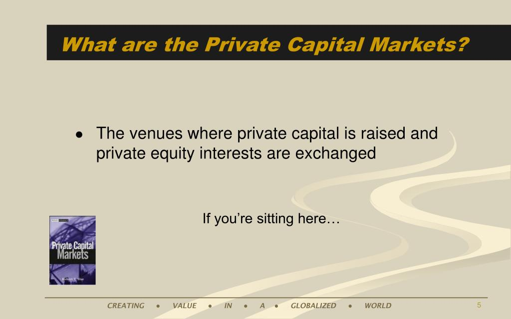 What are the Private Capital Markets?