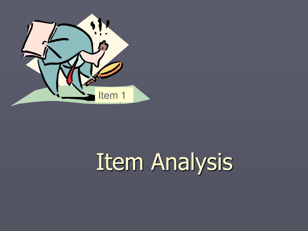 Item Analysis