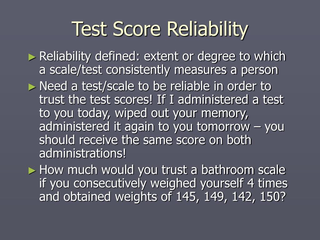 Test Score Reliability