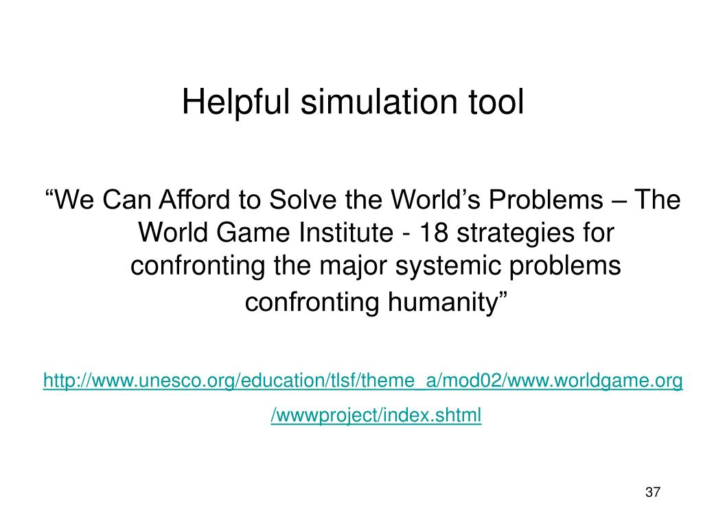 Helpful simulation tool