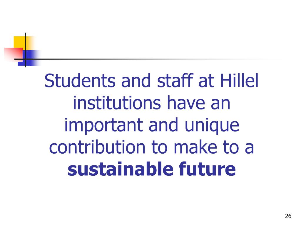 Students and staff at Hillel institutions have an