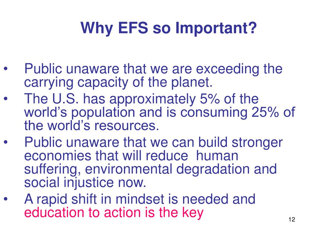 Why EFS so Important?