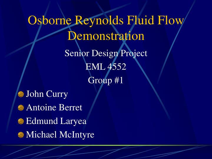 Osborne reynolds fluid flow demonstration l.jpg