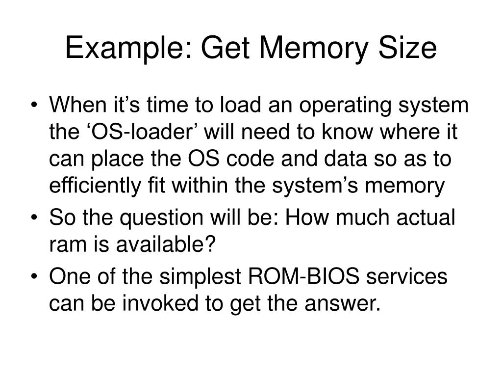 Example: Get Memory Size