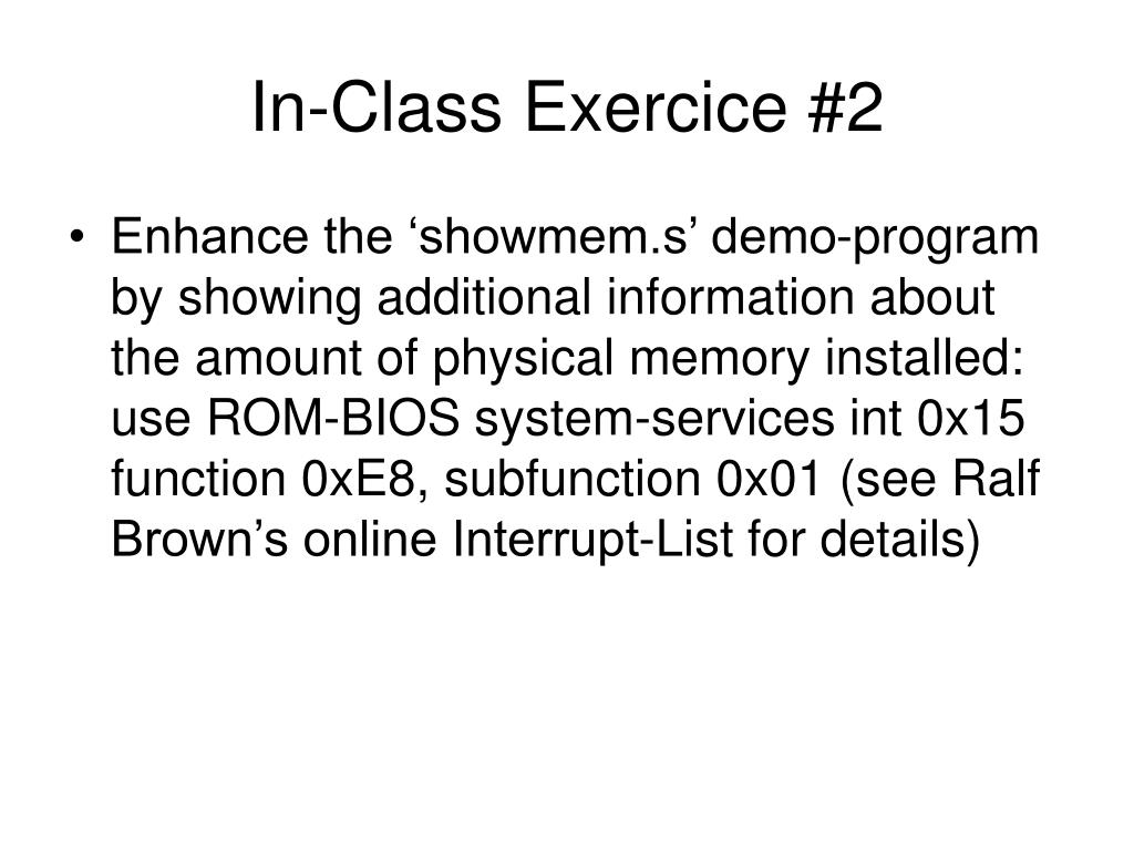 In-Class Exercice #2
