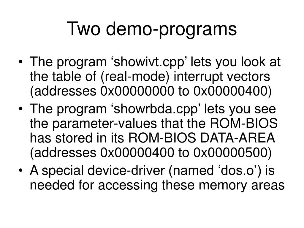 Two demo-programs