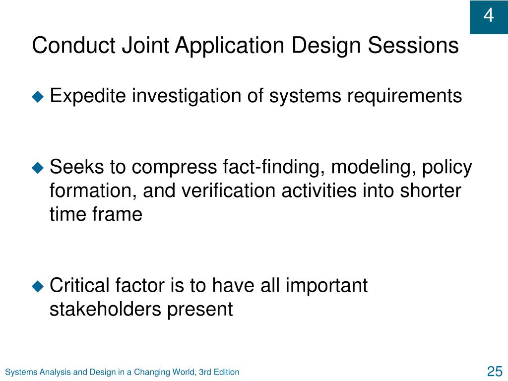 Conduct Joint Application Design Sessions