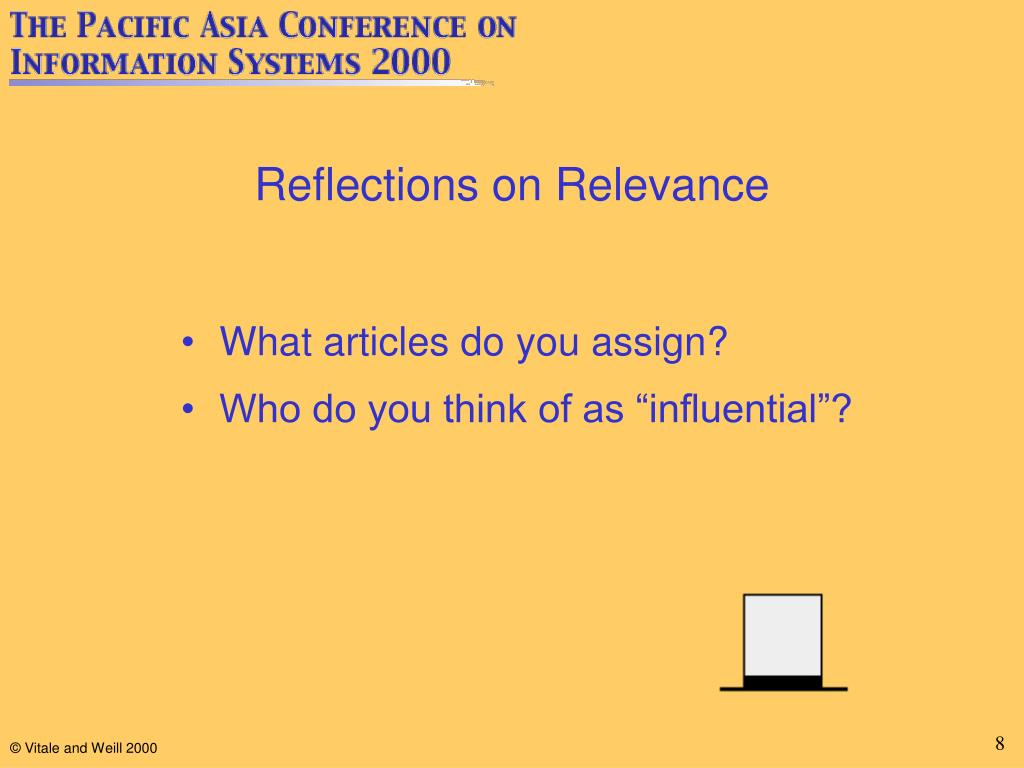 Reflections on Relevance
