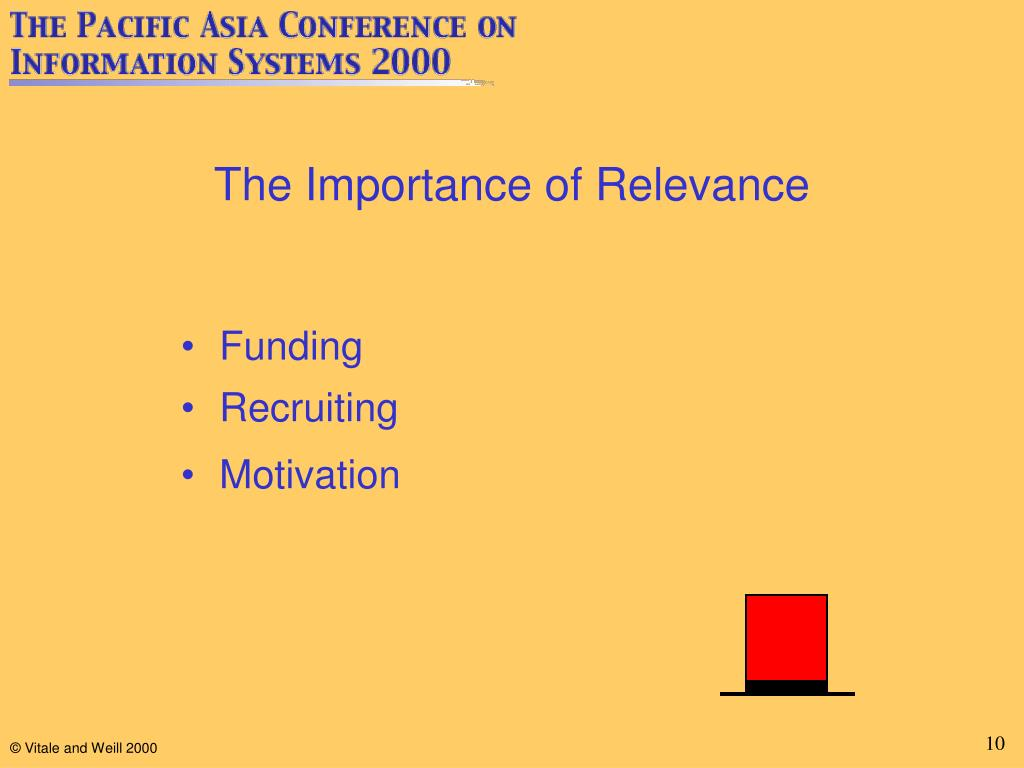 The Importance of Relevance