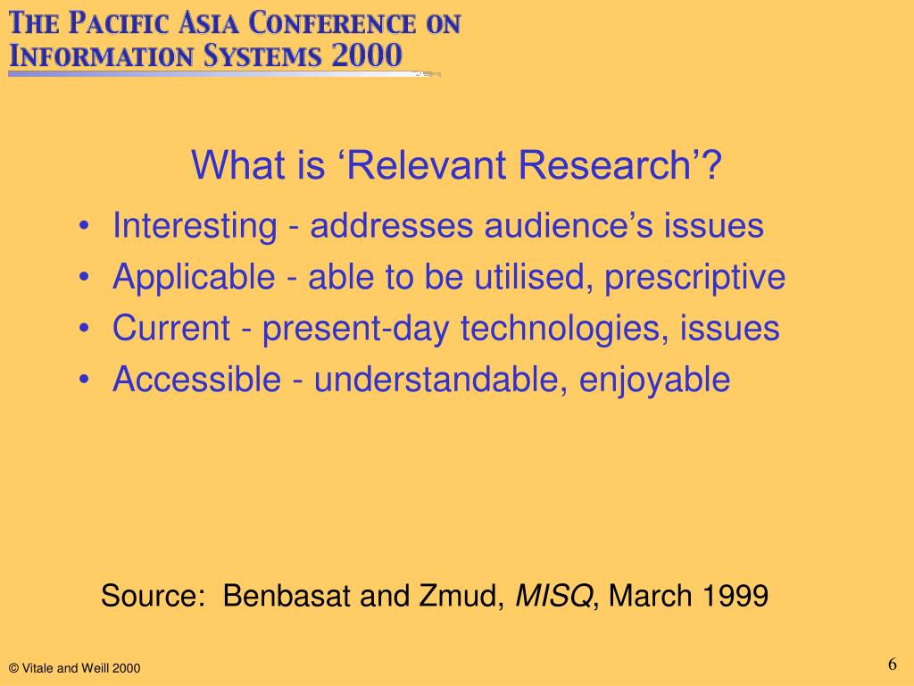 What is 'Relevant Research'?