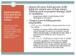 responsibili ties between parent and child