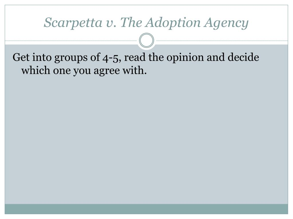 Scarpetta v. The Adoption Agency