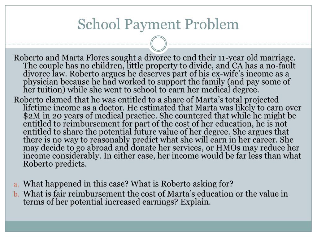 School Payment Problem