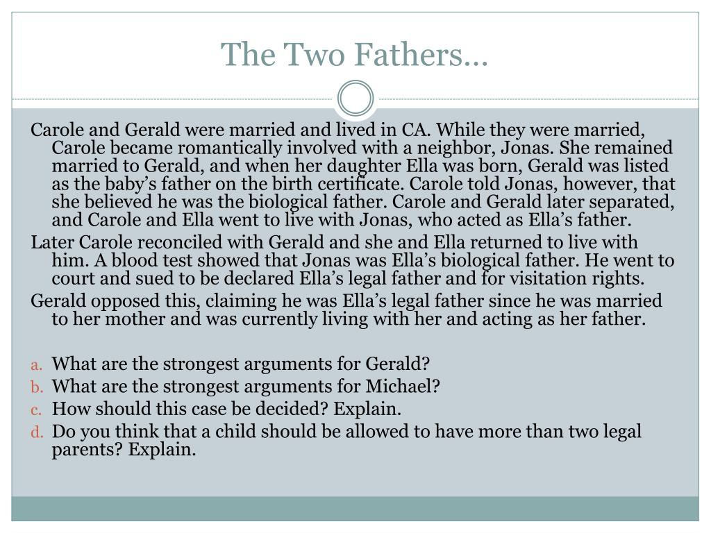 The Two Fathers…