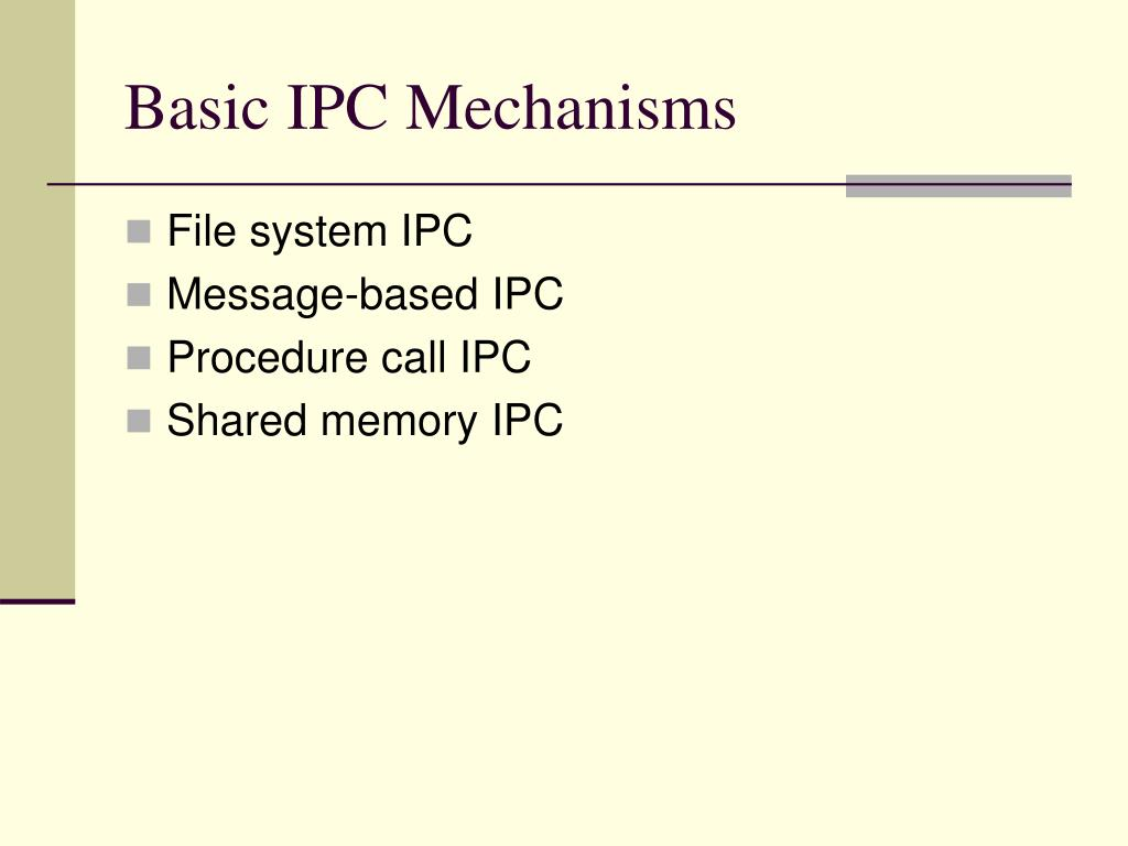 Basic IPC Mechanisms