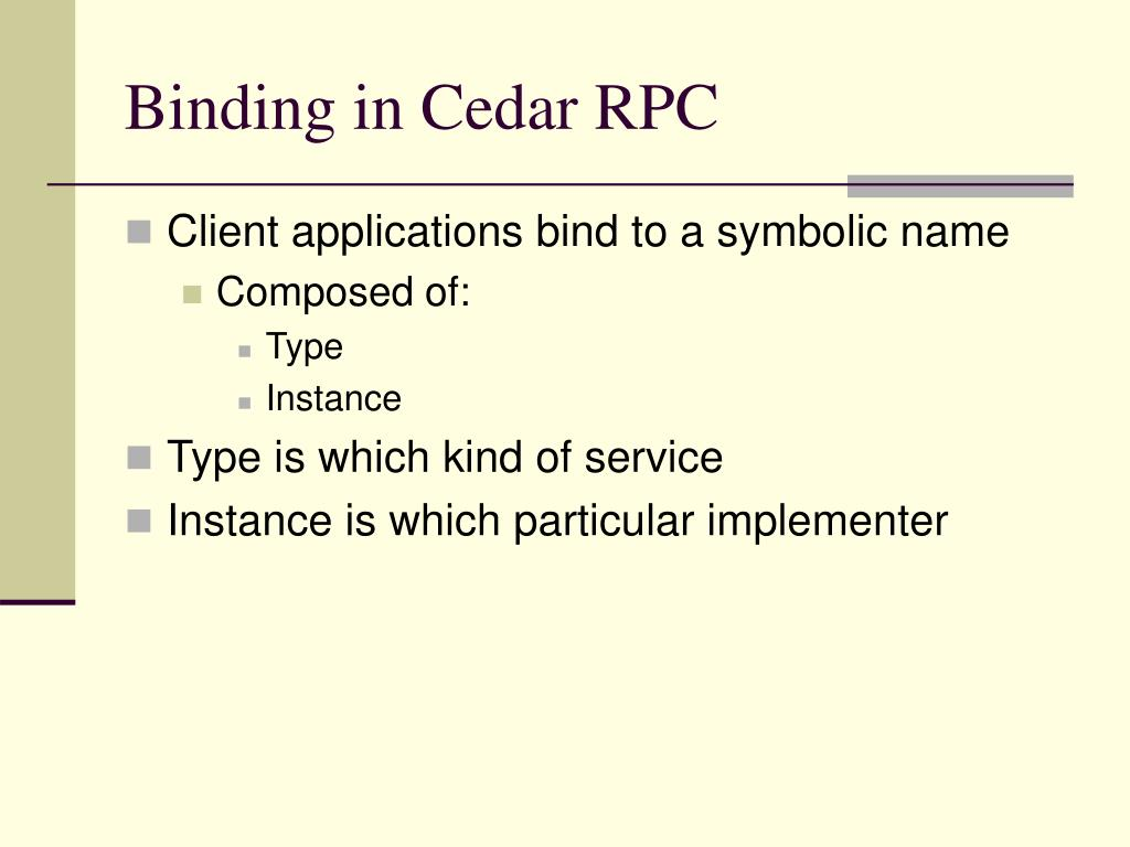 Binding in Cedar RPC