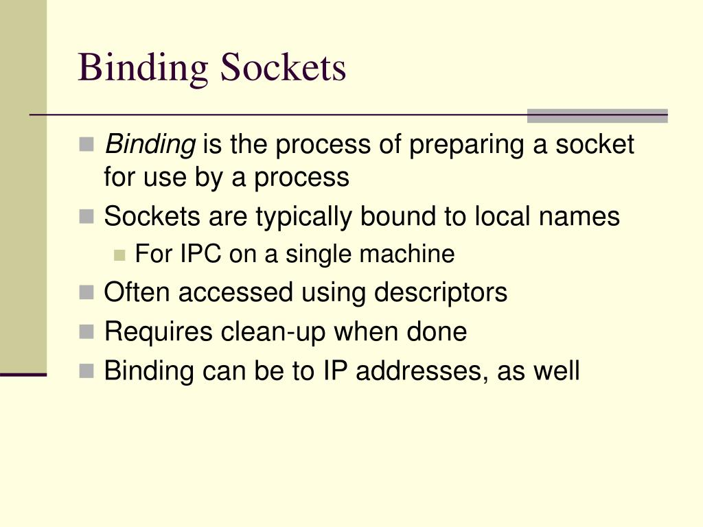 Binding Sockets