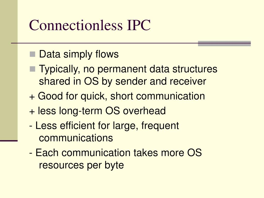 Connectionless IPC
