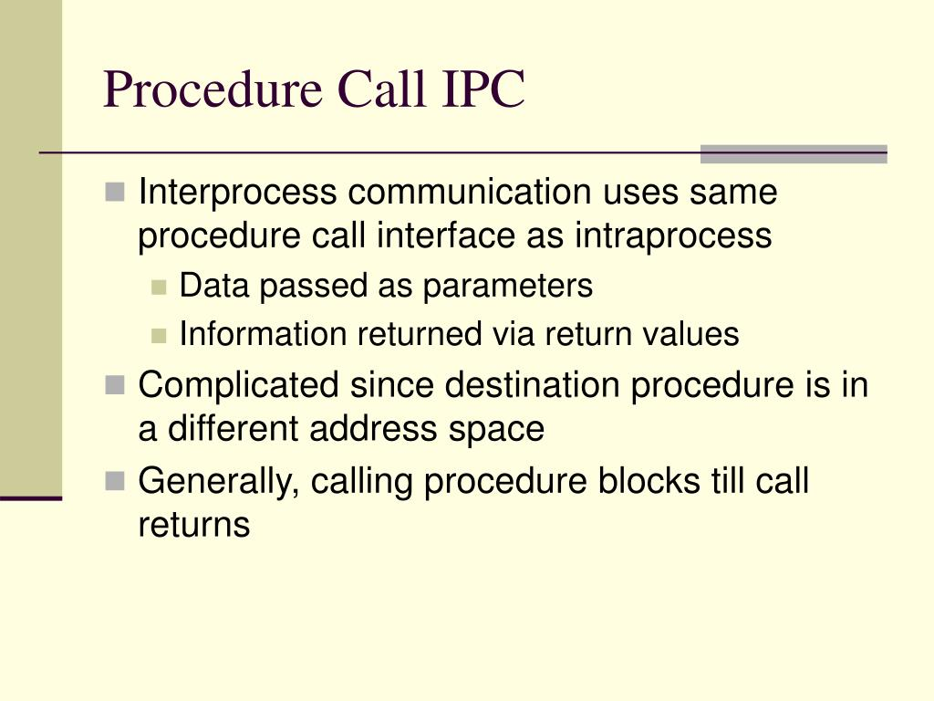 Procedure Call IPC