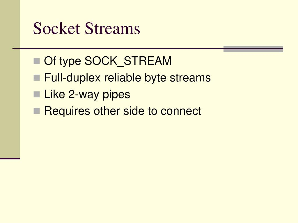Socket Streams