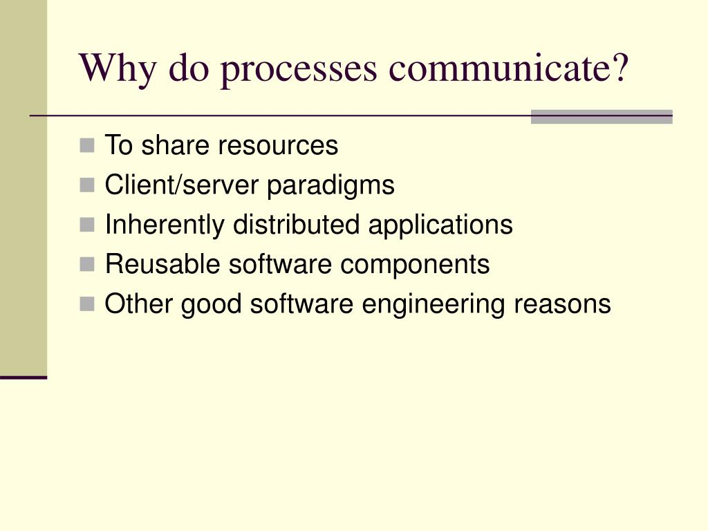 Why do processes communicate?