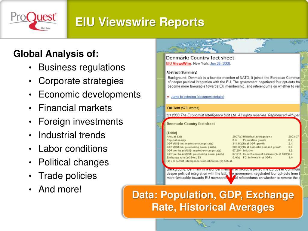 Global Analysis of: