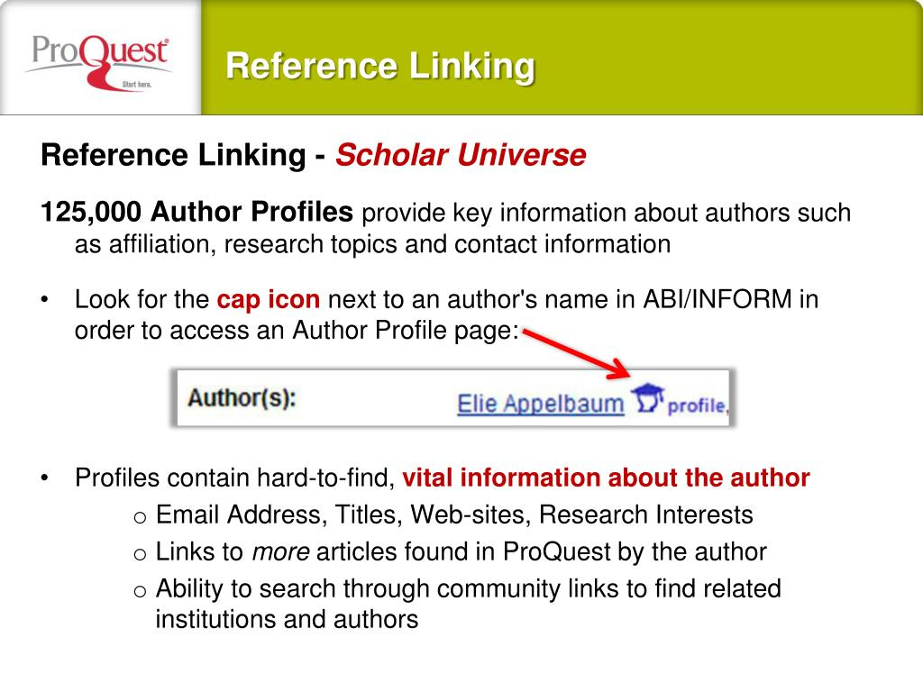 Reference Linking -