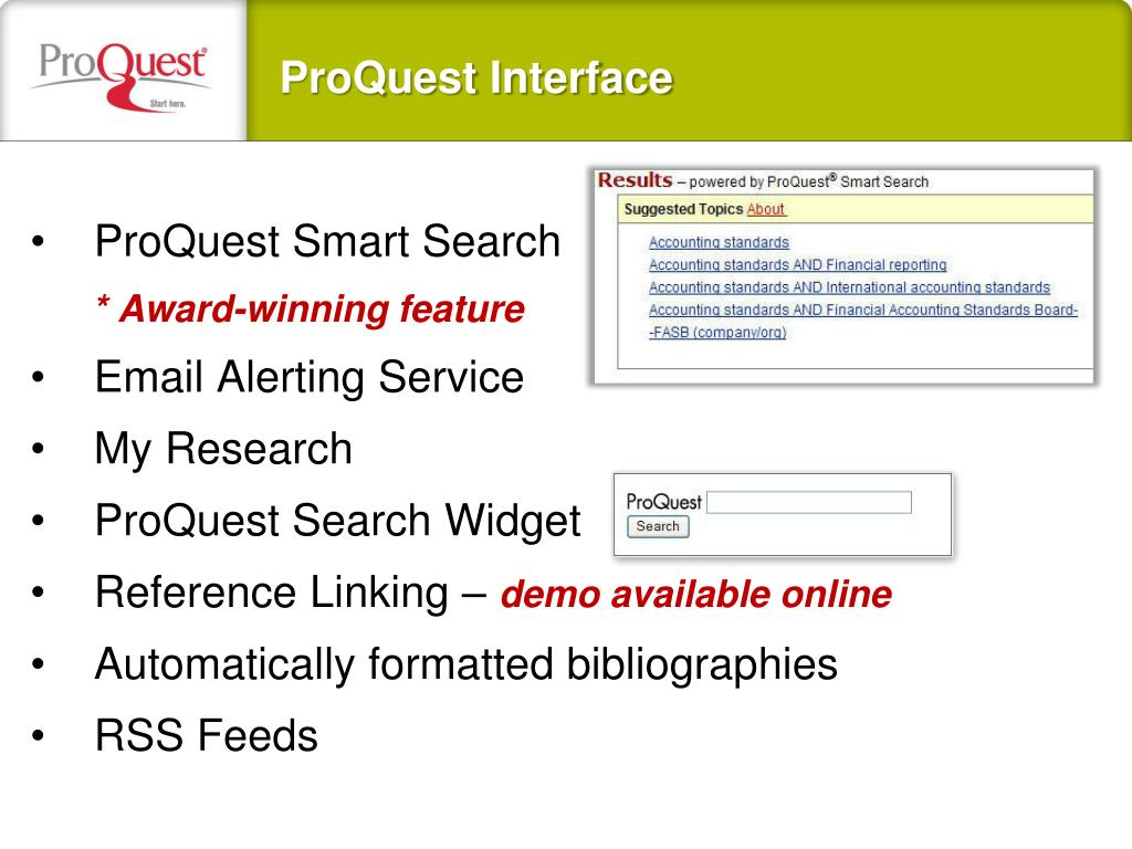 ProQuest Smart Search