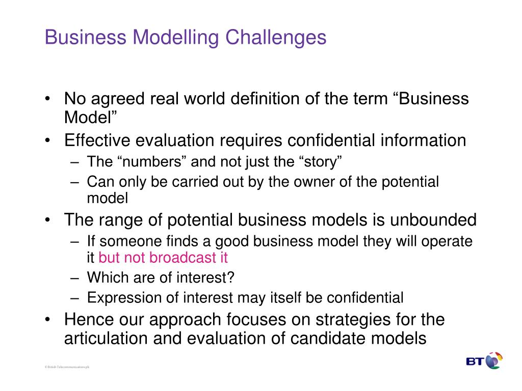 Business Modelling Challenges