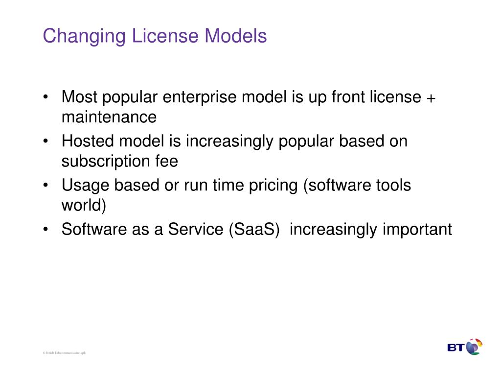 Changing License Models